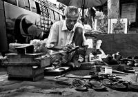 First Award Winner - The Cobbler; Photographer: Joy Acharyya; Location: Kolkata, West Bengal