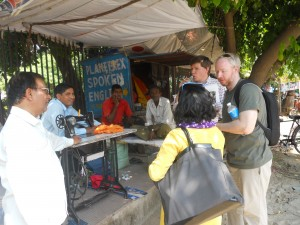Participants Interacting with Street Vendors